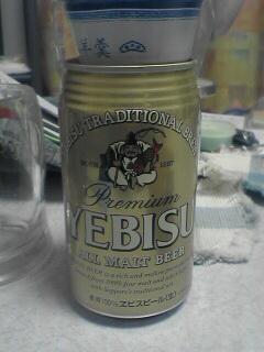 ヱビスビールと水羊羹です