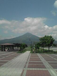 磐梯山の様子