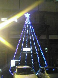 新潟駅南中央口のイルミネーション