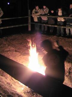 いわきではイカ焼きないんですよ。。子鍬倉神社の浄火です