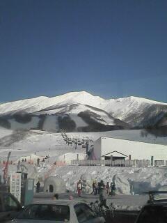 スキー場から見た風景です。快晴o(^-^)o