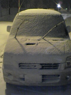 長岡で2時間駐車した後の車の様子